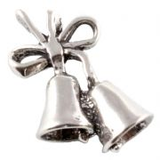 Christmas Bells 3D Sterling Silver Charm